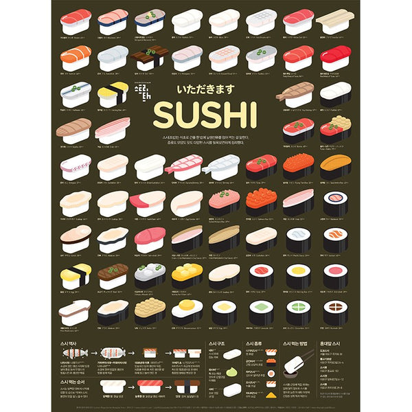 Poster Affiche Sushi, 50 x 70cm