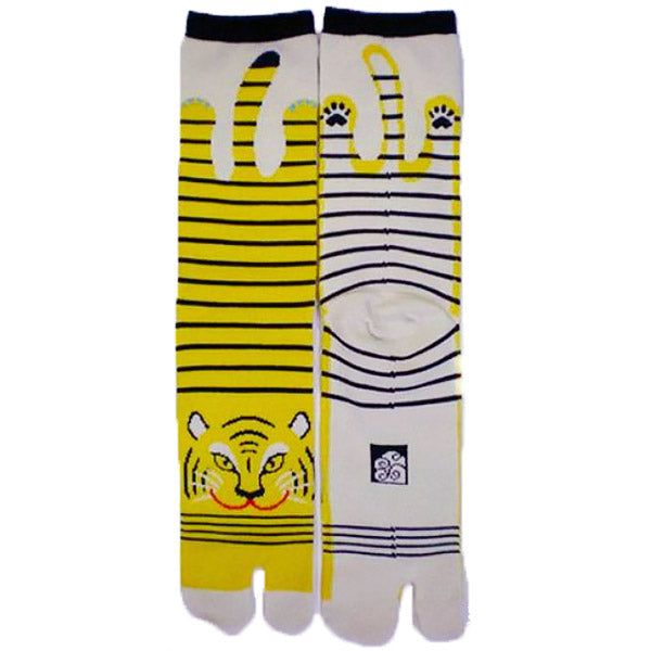 Chaussette Tabi Tigre Tanuki - Made in Japan | Moshi Moshi Paris