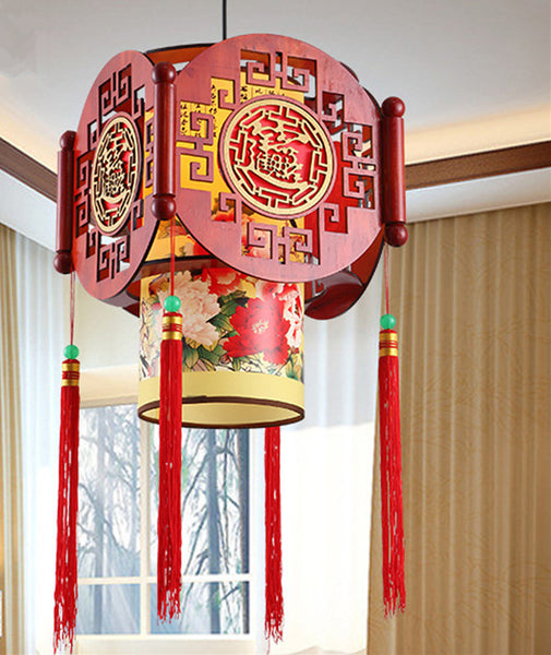 MODERN CHINESE SOLID WOOD LANTERN - WeShop Singapore
