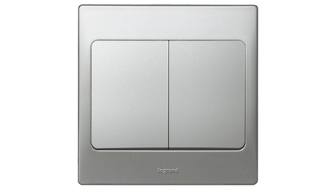Legrand Mallia Switch (Silver)