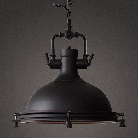 ZODYN IRON INDUSTRIAL BOWL PENDANT LIGHT