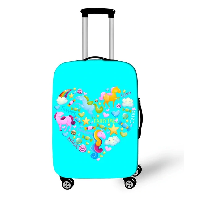 Trolley Case Protective Suitcase 18-32 Rainbow Travel Anti-dust Luggage Bag - Travell Well