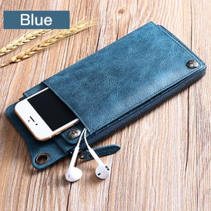 Quality Genuine Leather Men Women Wallets Ultrathin Long Slim Wallet Mens Card Holder Leather Wallet - Travell Well