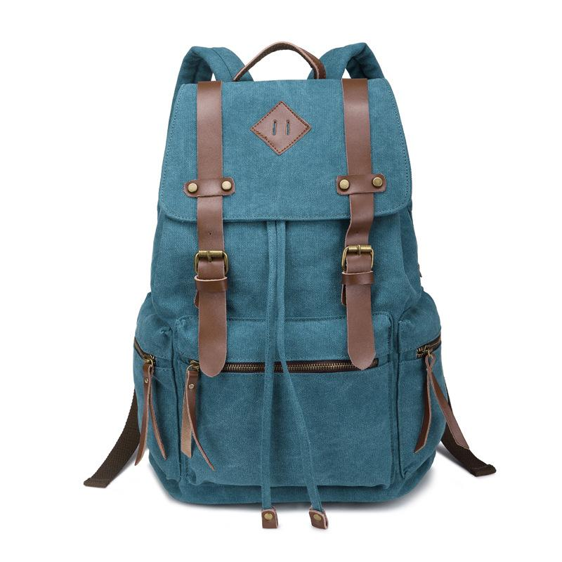 NEWLY GENUINE Brown Leather Back Pack Rucksack Travel Bag For Men/'s and Women/'s.