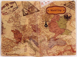 World Map Passport Cover Creative PVC Leather Travel Passport Holder Case Credit Card Money Holders - Travell Well