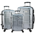 "Designer Travel Luggage 3 Pc Gold Suitcase Set 20"" 24"" 28"" inch Carry-On Travell Well - Travell Well"
