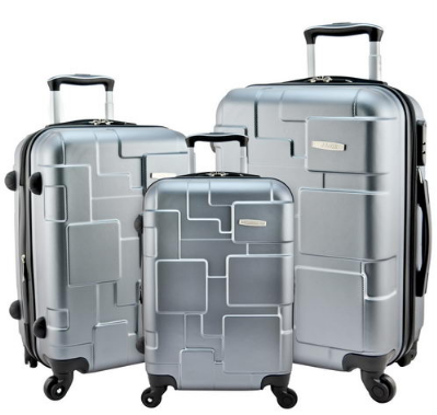 Travel luggage trolley bag leather suitcase map print wheels 16 20 travel luggage designer 3 piece silver spinner suitcase set 20 24 28 inch suitcases dark gray wine gold travell well carry on luggage sets free gumiabroncs Image collections
