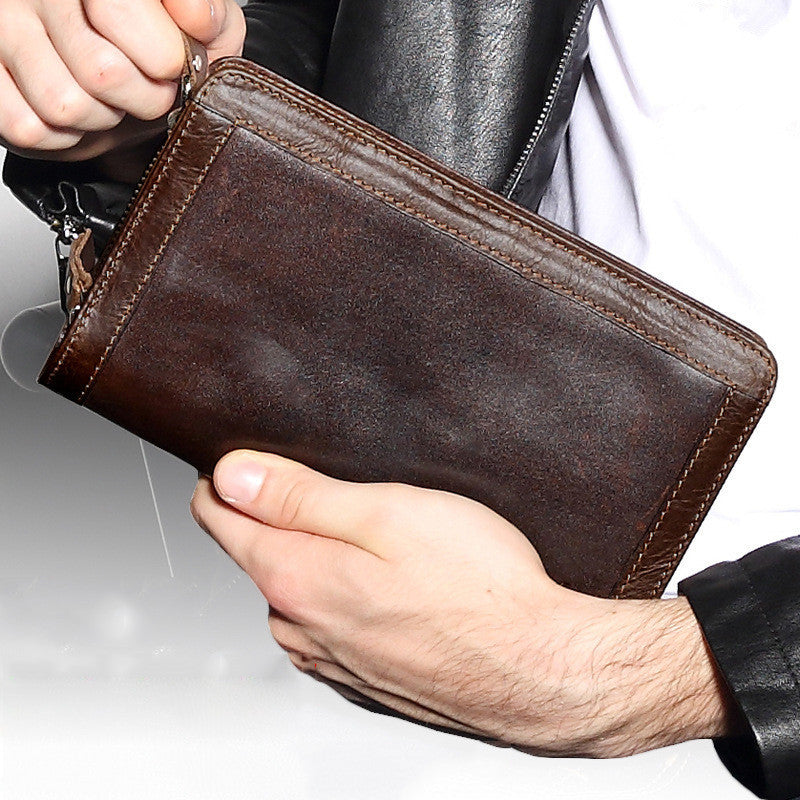Mens Long Wallet Leather  Purse Large Business ID Credit Card Clutch Bag New