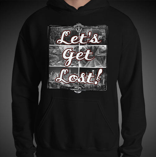 Let's Get Lost Travel Hoodie Mens Authentic Quality Hoodies Men Hoods - Travell Well