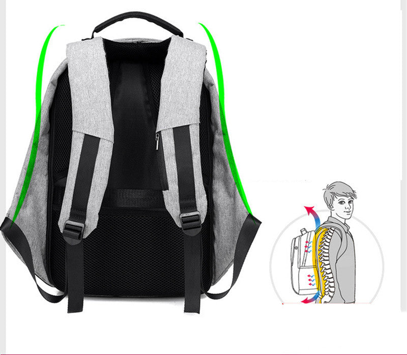 Anti-Theft Laptop Backpack USB Charging Port Waterproof Cut Resistant Multifunctional Travel Pack - Travell Well