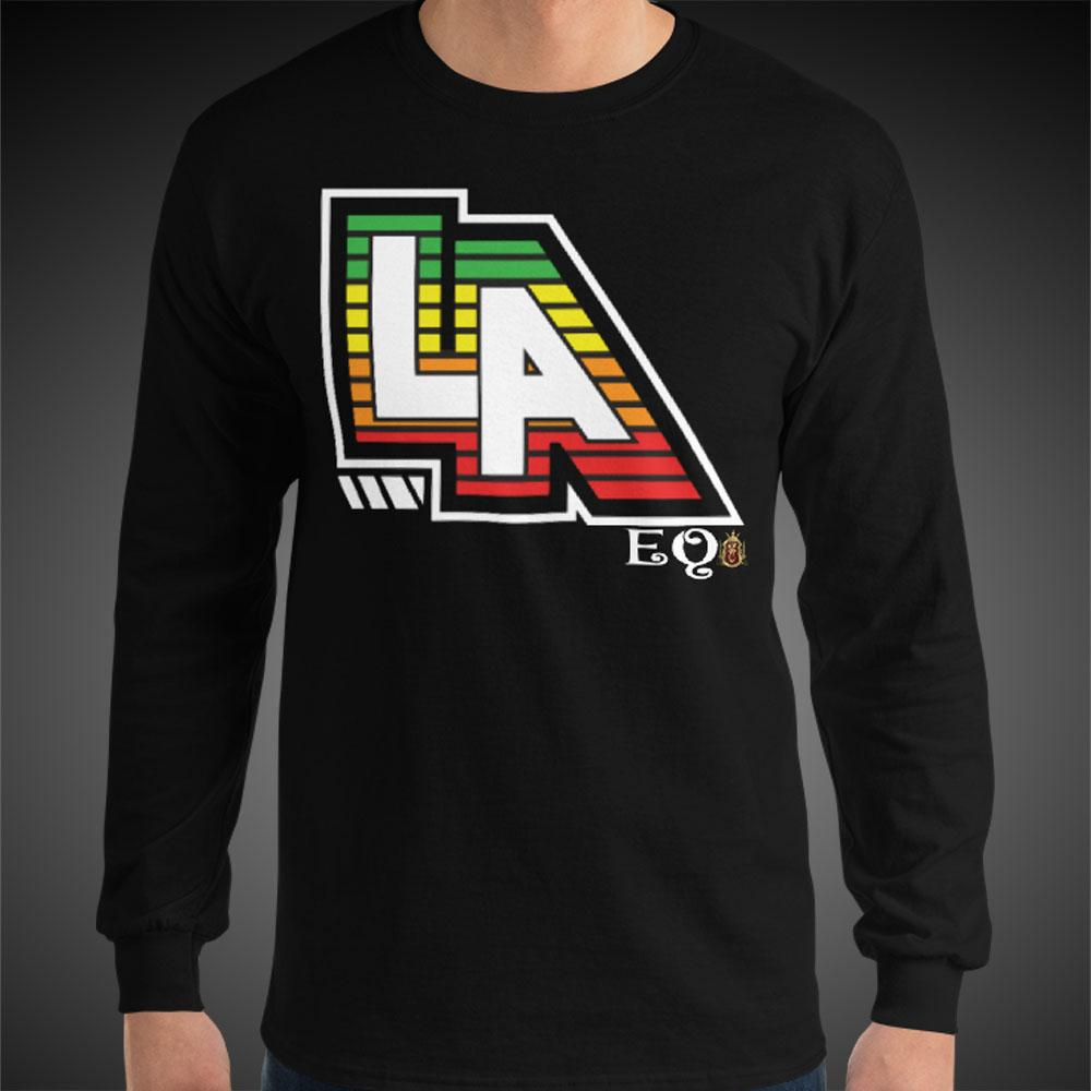 L.A. LA EQ Tee Men Long Sleeve Shirt Authentic Quality Men's Shirts - Travell Well