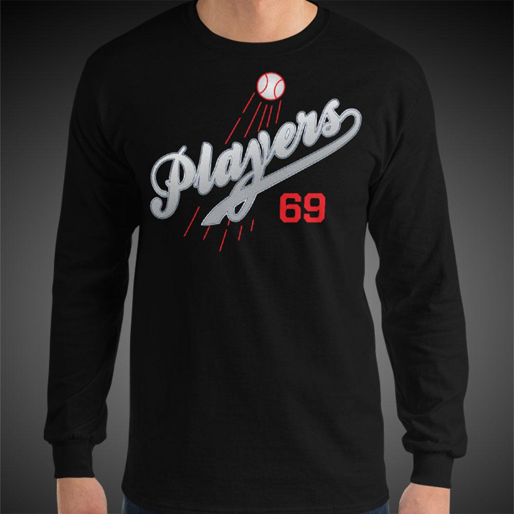 L.A. Players Dodger Tee Men Long Sleeve Shirt Authentic Quality Men's Shirts - Travell Well