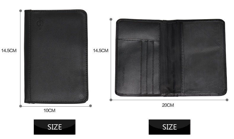 Passport Cover RFID Wallet Leather Holder ID Passport Travel Ticket Money Holder RFID Blocking Cover - Travell Well