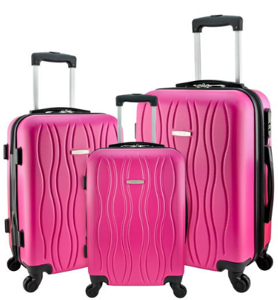 "Designer Travel Luggage 3 Pc Suitcase Set Spinner 360 Wheel 20"" 24"" 28"" inch Suitcases Travell Well - Travell Well"