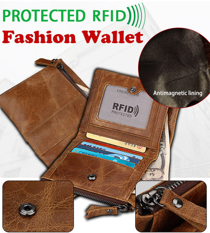 Genuine Brown Coffee Leather Travel Wallet Waist Packs Belt Quality Leather Fanny Waist Pack Bags