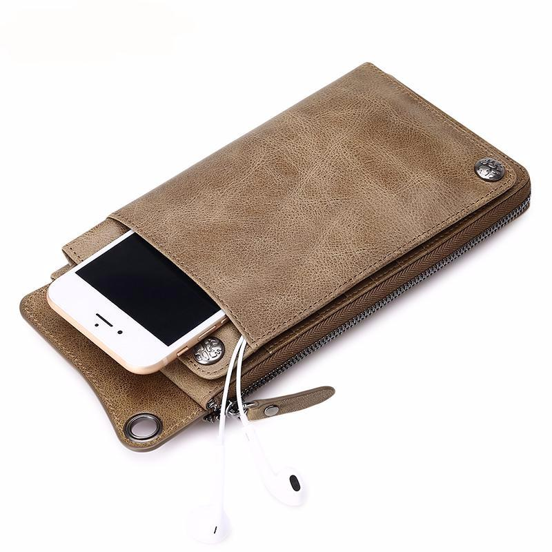 2fde8e11acad ... Quality Genuine Leather Men Women Wallets Ultrathin Long Slim Wallet  Mens Card Holder Leather Wallet ...