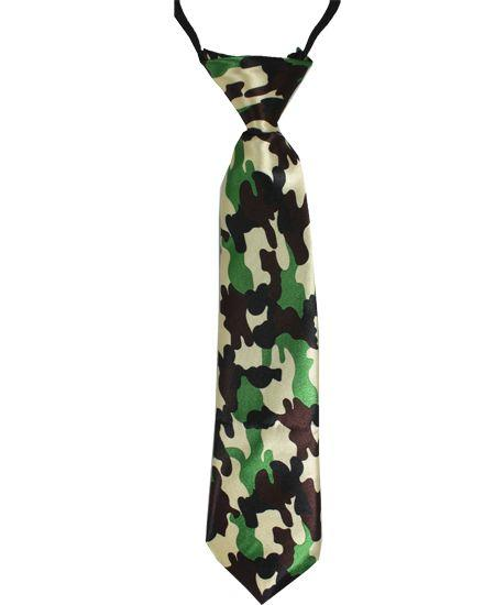 Jr Ties Boys Camouflage Tie Kids Young Teen Boy Mid-Size Dress Ties - Travell Well