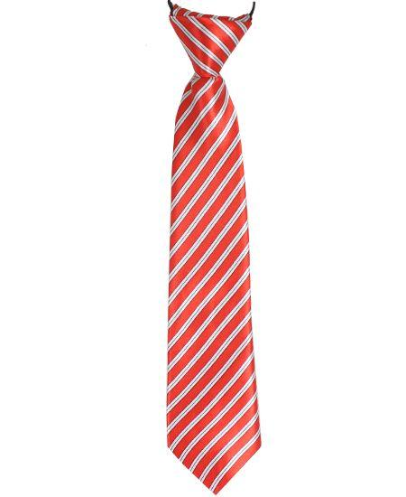 Jr Ties Boys Red Tie Kids Young Teen Boy Mid-Size Dress Ties - Travell Well