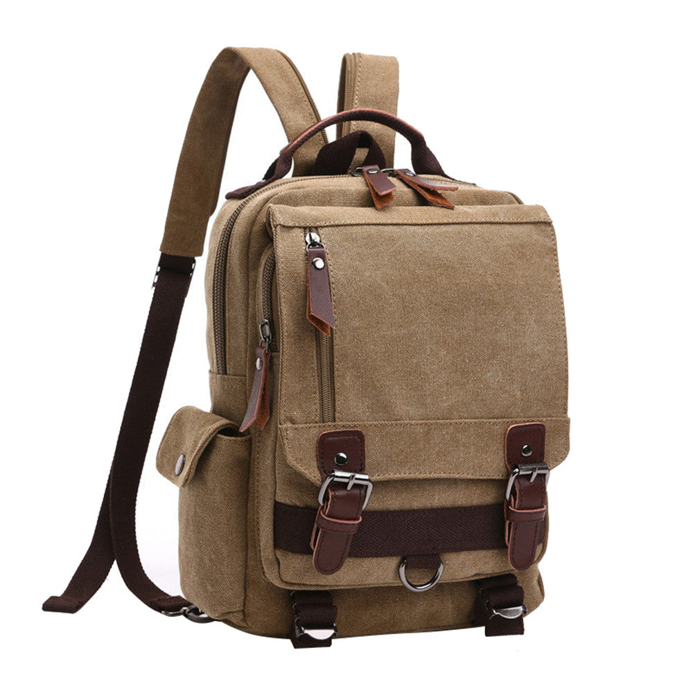 Travel Bag Gray Backpack Rucksack Canvas Multifunctional School Work Travell Well Bags Various Colors - Travell Well