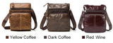Genuine Black Leather Handbag Flap Shoulder Crossbody Small Messenger Quality Cell Phone Hand Bags - Travell Well