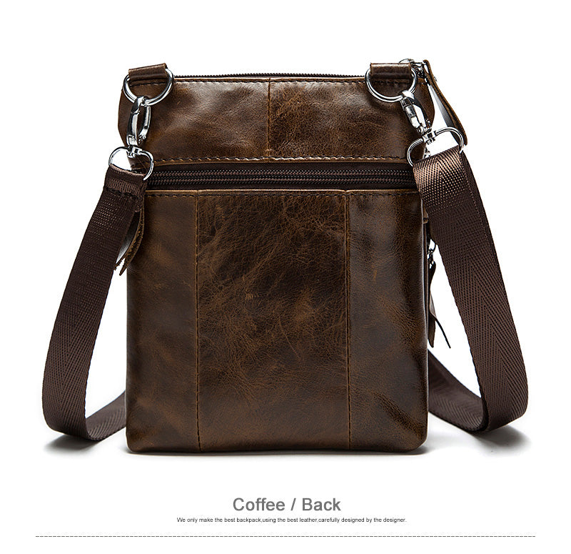 Genuine Leather Handbag Light Coffee Bag Flap Shoulder Crossbody Small Messenger Quality Hand Bags - Travell Well
