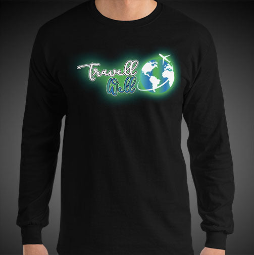 Travell Well Logo Travel Tee Men's Long Sleeve Shirt Authentic Quality Men's Shirts - Travell Well