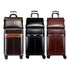 Travel Business Class Leather Trolley Single or Briefcase Sets Rolling Luggage Spinner Retro Wheel Suitcase Trolleys - Travell Well