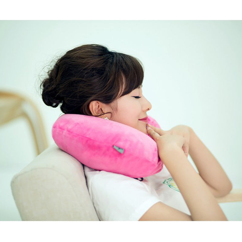 Quality Travel Pillow Neck Rest Pink Inflatable Airplane Air Pillows –  Travell Well