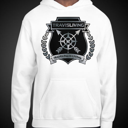 Travis Living Platinum Travel Shield Arrows Compass Travel Hoodie Mens Authentic Quality Hoodies Men's Hoods