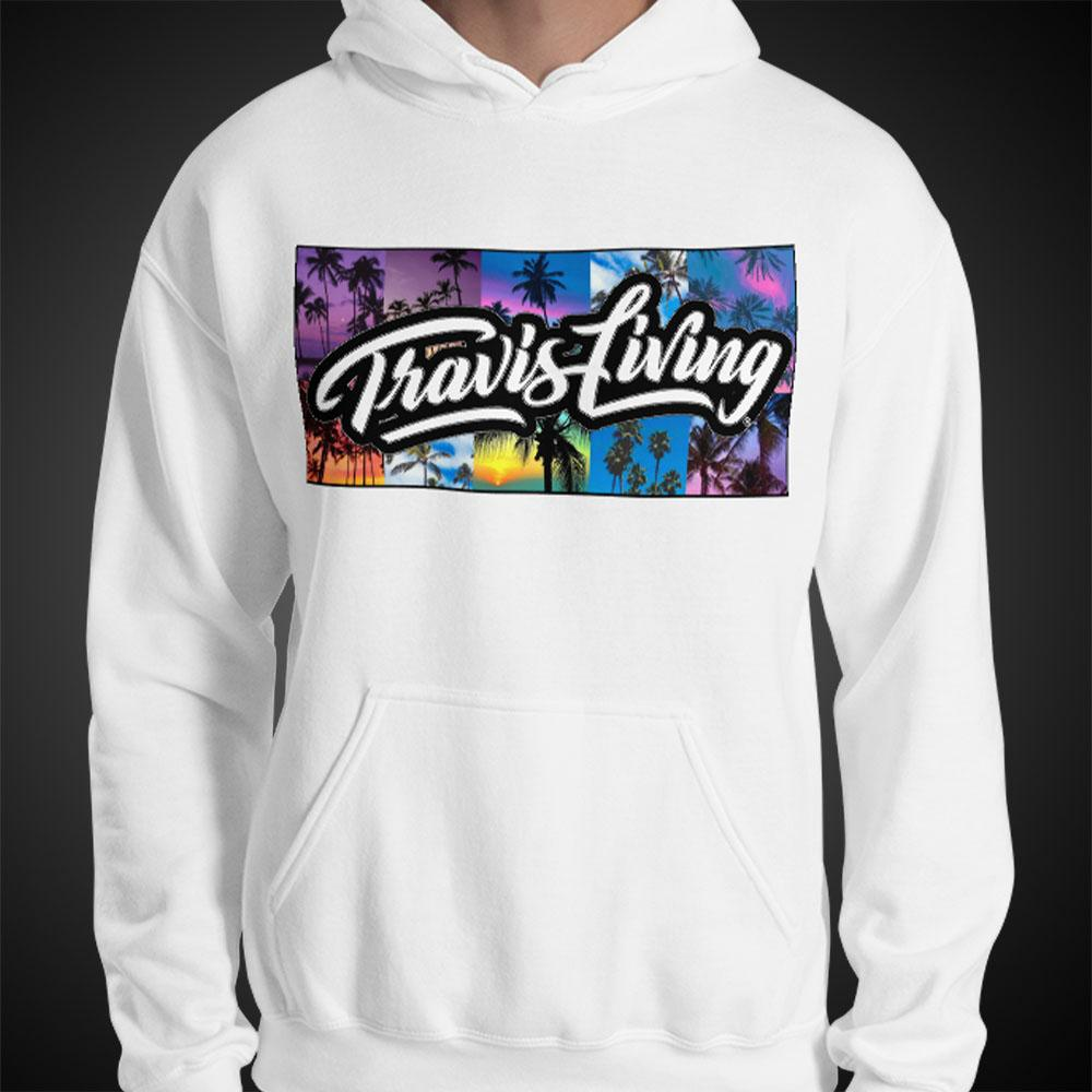 Travis Living Hoodie Palm Trees Mens Hoodies Quality Hoods - Travell Well