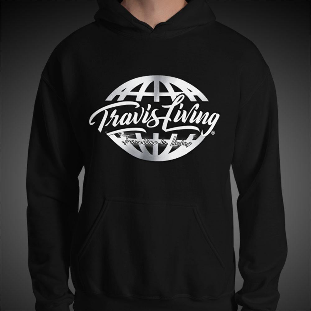 Travis Living Hoodie Signature Globe Men's Hoodies Quality Hoods - Travell Well