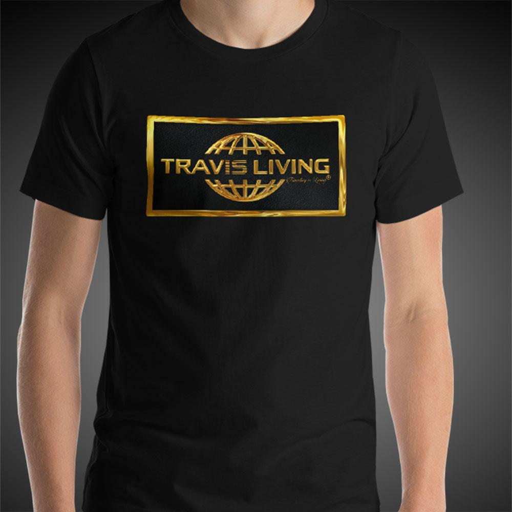 Travis Living Shirt Mens Gold Collection T-Shirt Men Tees - Travell Well