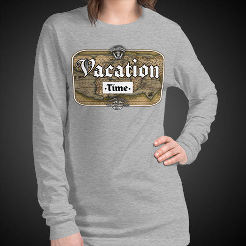 Vacation Time Travel Tee Girls Long Sleeve Shirt Authentic Quality Womens Shirts - Travell Well