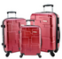Travel Luggage Designer 3 Pc Spinner Suitcase Set Dark Red, Gold, Dark Gray Silver Luggage Sets - Travell Well