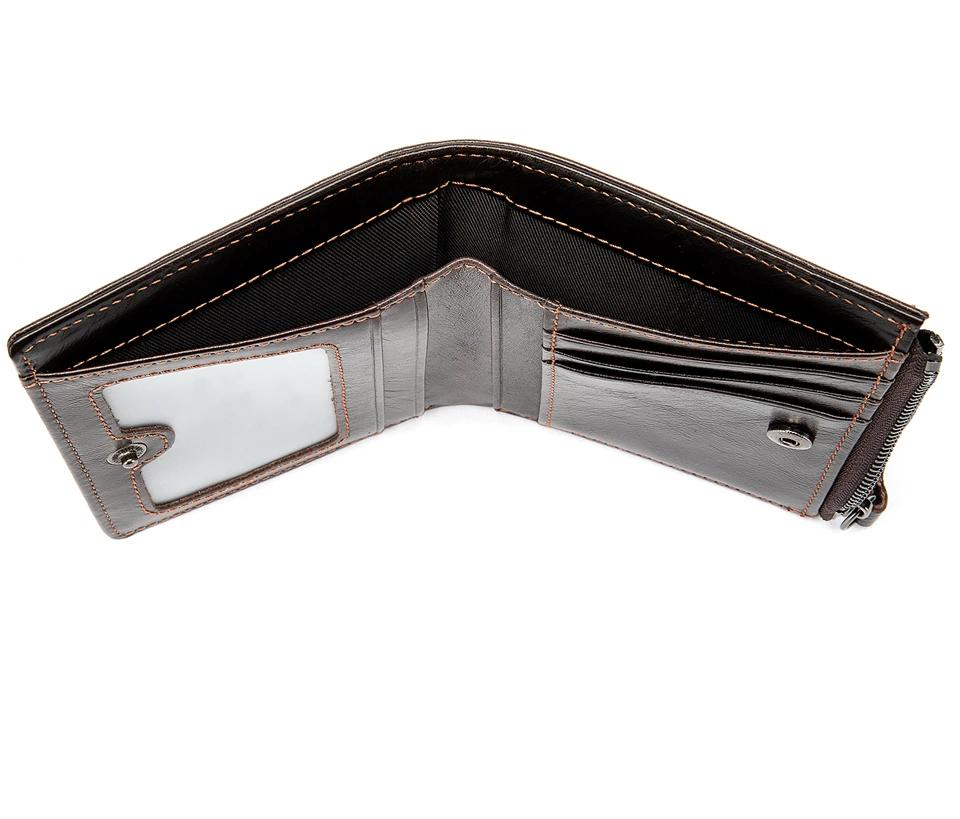 Genuine Leather Cards Male Purse Small Slim Money Wallet - Travell Well