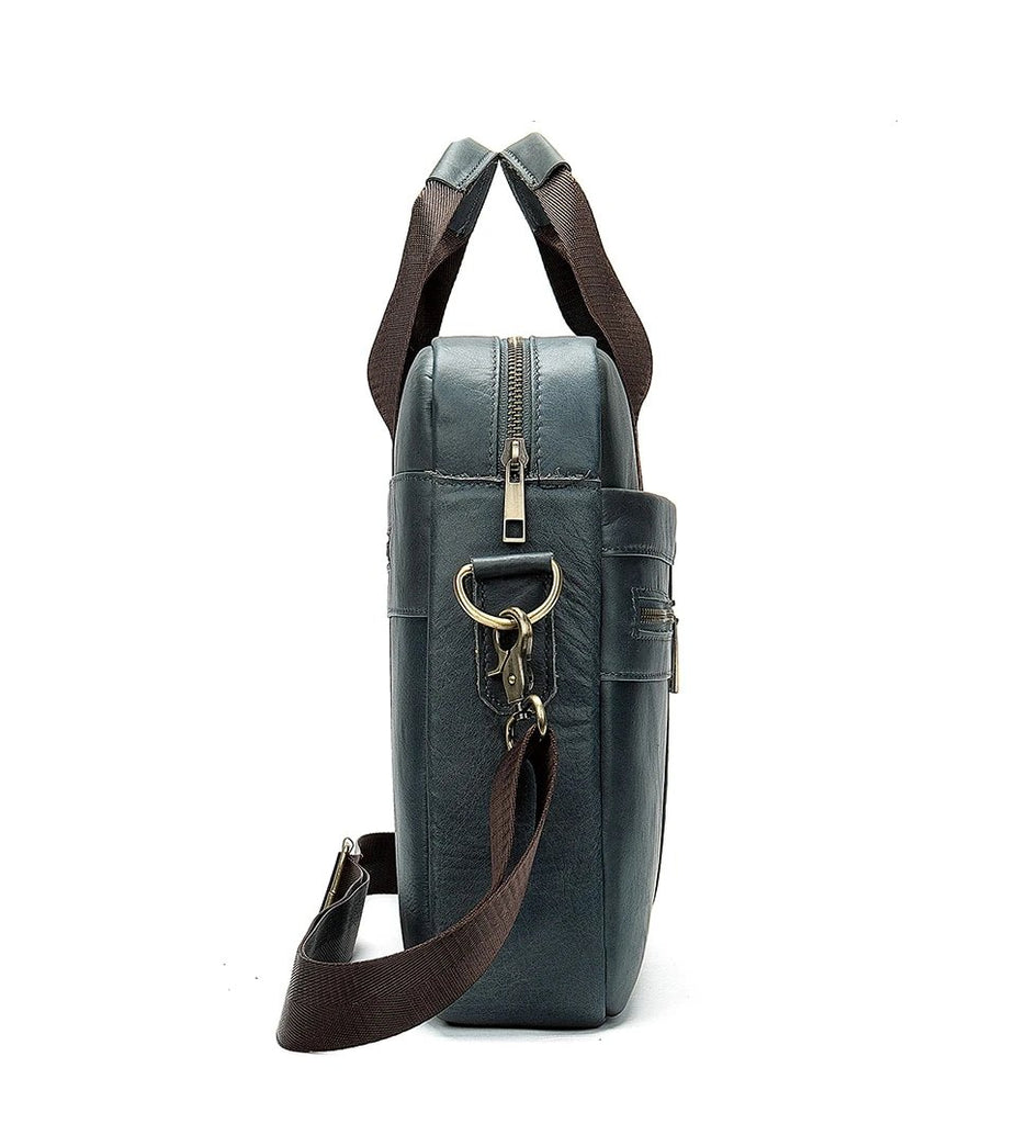 Briefcases Leather Messenger Laptop Shoulder Handbag - Travell Well