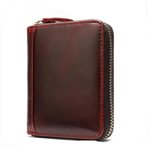 Genuine Leather Wallets Phone Men's Leather Wallets Long Wallet Clutch Money Clip Wallet