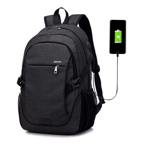 Anti-Theft Laptop Backpack USB Charging Port Waterproof Cut Resistant Multifunctional Travel Pack