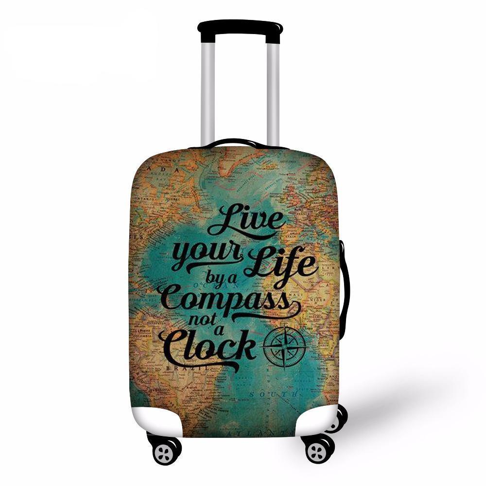 Travel luggage trolley bag leather suitcase map print wheels 16 18 luggage protective cover 18 30 travel suitcase covers fashion printed dust cover elastic waterproof accessories travel luggage carry on bag covers gumiabroncs Choice Image
