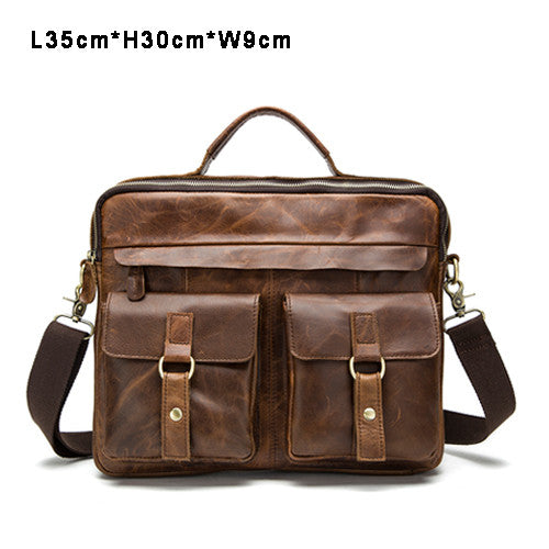 406ddd5f1a7b Vintage Briefcase Rustic Leather Laptop Messenger Top Handle Bag Crossbody  Travel Bags Multi-Colors
