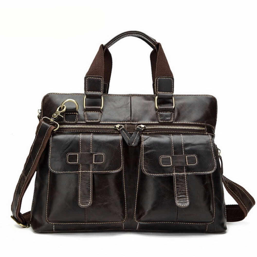 61cd5c7469 ... Designer Leather Fashion Style Messenger Bag Crossbody Shoulder  Briefcase Laptop Bags - Travell Well ...