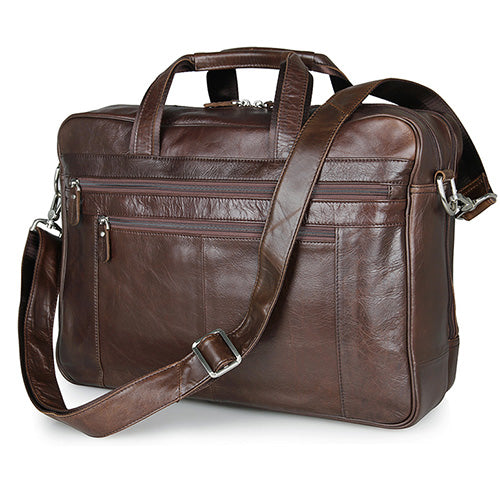 "Genuine Leather Shoulder Crossbody Bag Business Messenger Briefcase Laptop 16 "" inch Lawyer Bags - Travell Well"