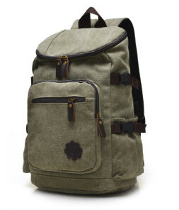 8dfb122b6716 Best Price Canvas Backpack Rucksack Multi-Function Laptop School Bag Men  Women Large Capacity Satchel Sac à dos Mochila Army Green