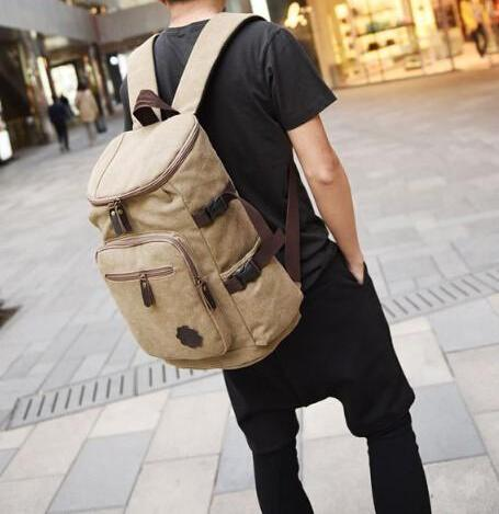 Best Price Canvas Backpack Rucksack Multi-Function Laptop School Bag Men Women Large Capacity Satchel Sac à dos Mochila Black | Blue | Khaki | Army Green Travel Bag - Travell Well