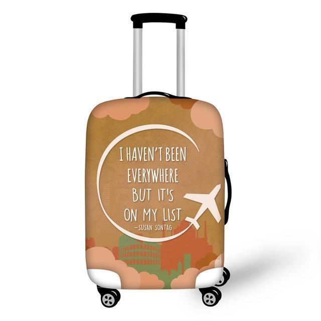 Travel Suitcase Dust Cover Trolley Case Luggage Protection Suitcase Protective Cover Army Green S