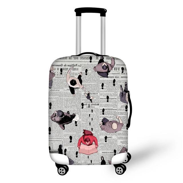 Luggage Protective Cover 18-30 Travel Suitcase Dust Cover Elastic Waterproof Carry-On Bag Covers - Travell Well