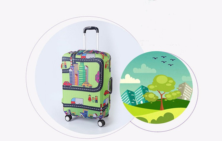 Travel Paris Eiffel Tower Luggage Suitcase Protective Trunk Case Cover Travel Suitcases - Travell Well