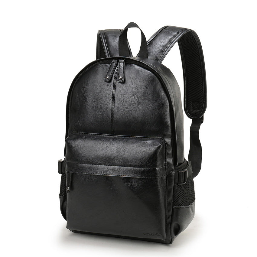 Quality Black Leather Backpack School Bag Laptop Work Daypacks Satchel Sac à dos Mochila Travel Bags - Travell Well