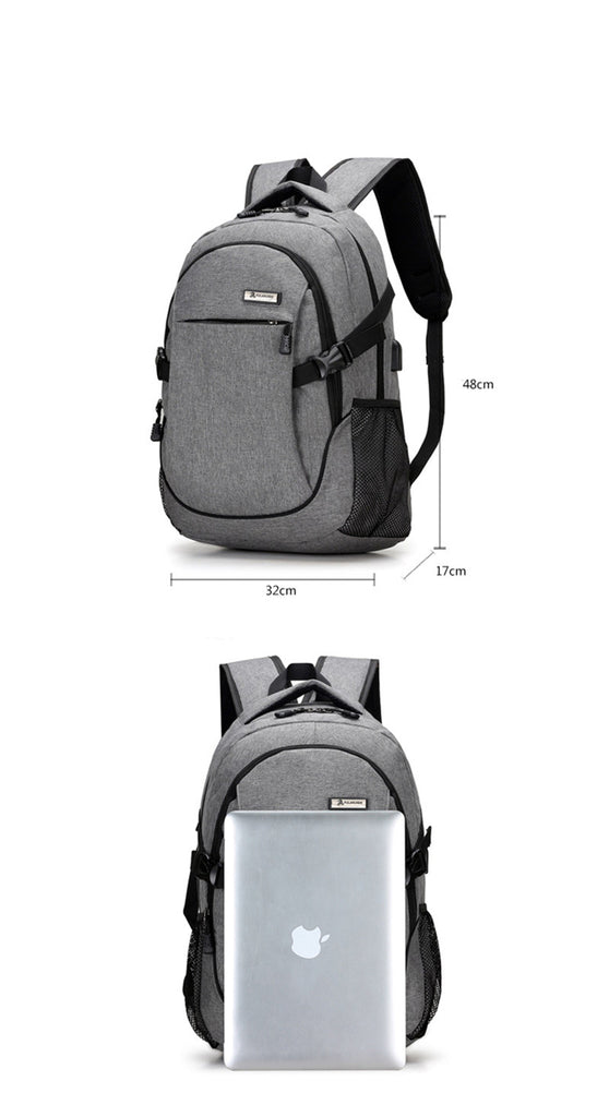 Large Capacity Laptop Backpack Bag School Bags Mochila USB Charging Backpacks - Travell Well