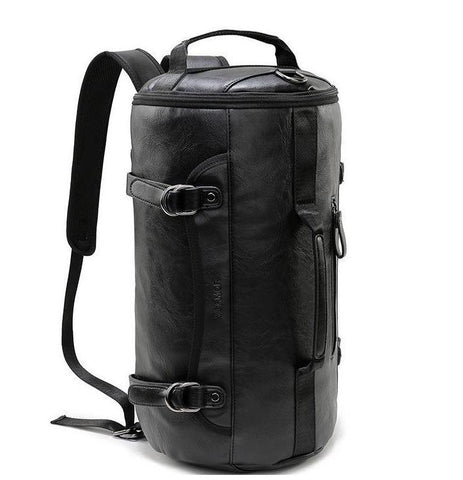 Travel luggage trolley bag leather suitcase map print wheels 16 20 large round black leather travel bag rolling multi fuctional traveling backpack weekender carry on duffel satchel sac dos mochila travel bags gumiabroncs Image collections